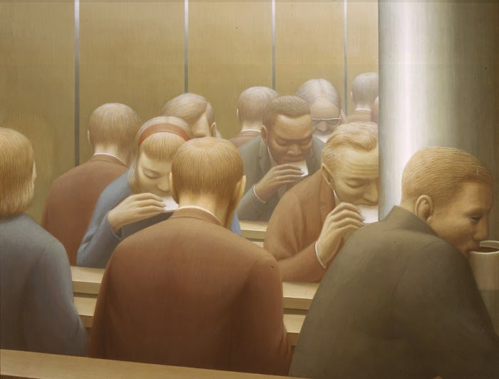 La peur 2 - George Tooker - Lunch